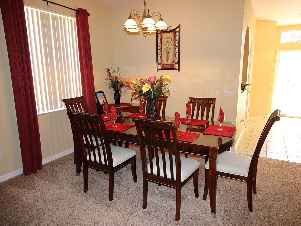 244 gleneagles drive a beautiful golf front villa for Beautiful dining area